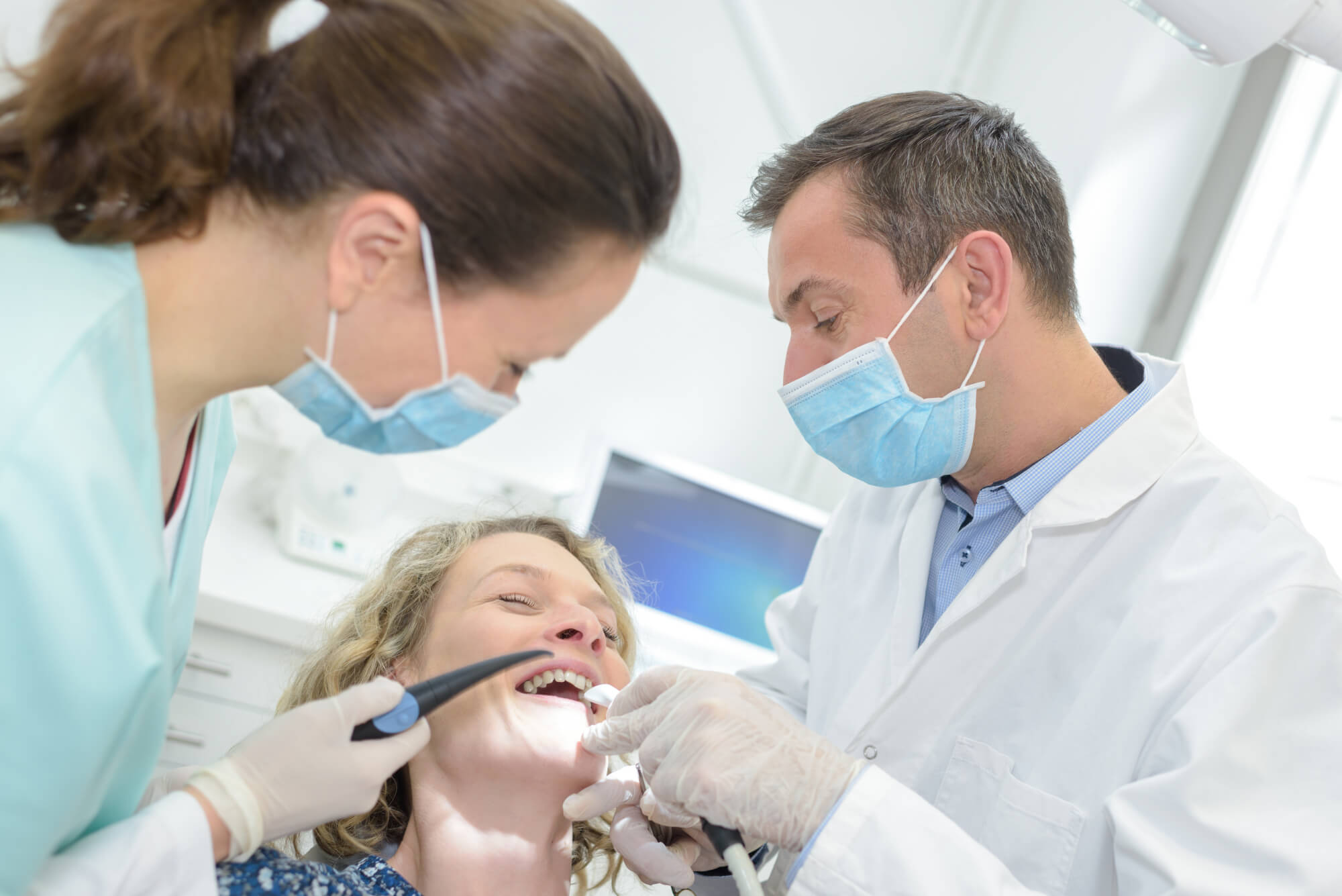 patient laughing from Nitrous Oxide in Midlothian